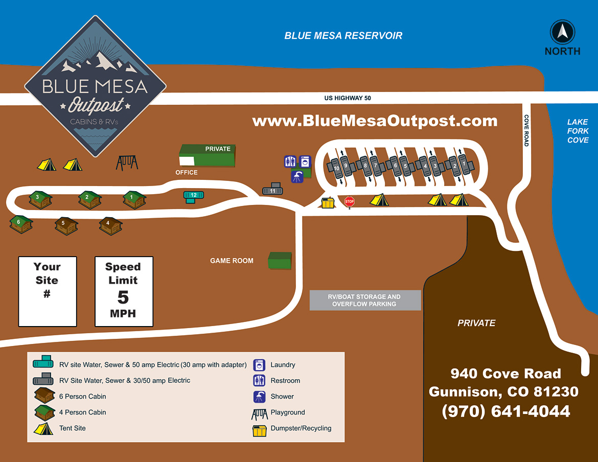 Blue Mesa Outpost Site Map